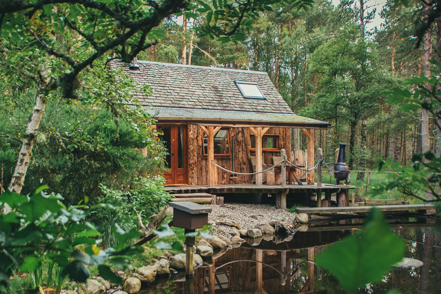 The Duck's Nest eco cabin, Nethy bridge, near Aviemore, Cairngorms National Park, Scotland