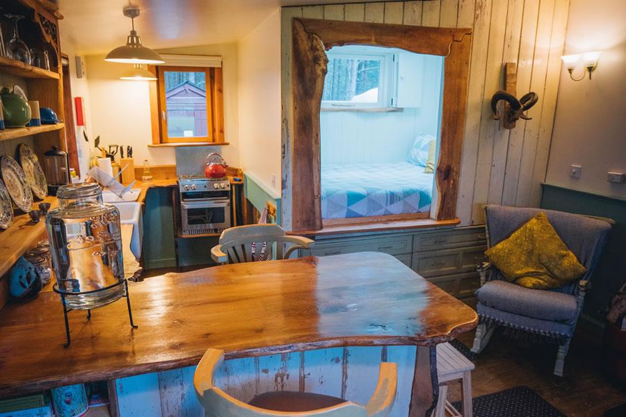 The Homestead eco cabin box bed,Nethy bridge, near Aviemore, Cairngorms National Park, Scotland