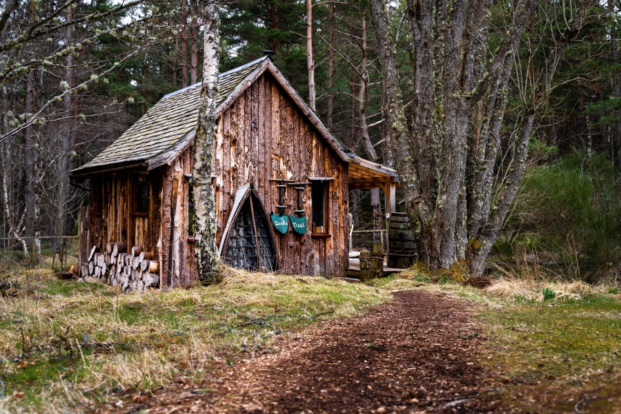 The Duck's Nest eco lodge, Nethy Bridge, Near Aviemore, Cairngorms National Park, Scotland