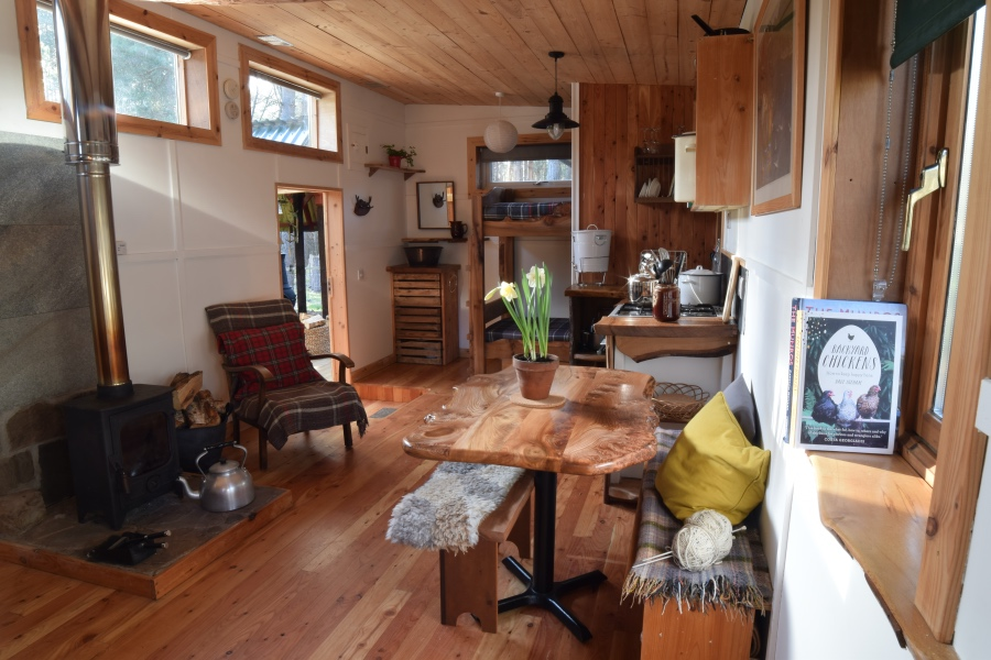 The Lookout eco hostel, Nethybridge, near Aviemore, Cairngorms National Park, Scotland
