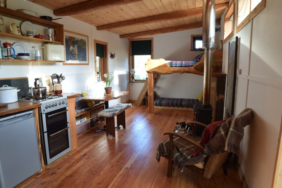eco hostel, Nethybridge, near Aviemore, Cairngorms National Park, Scotland