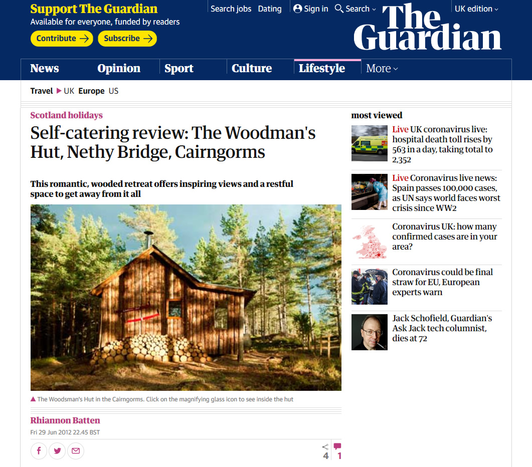 The Guardian, Self catering review